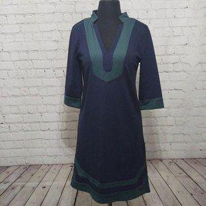 Vfish Navy Blue & Hunter Green 3/4 Dress